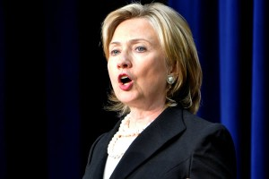 Secretary of State Hillary Clinton said the 2012 International AIDS Conference will bring together 30,000 scientists, policy makers and activists from around the world. (DC Agenda photo by Michael Key)