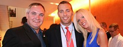 Tareq and Michaele Salahi with Blade editor Kevin Naff (center) at the Blade's 40th anniversary party in October. (Washington Blade photo by Michael Key)