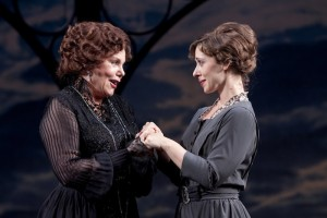 Marsha Mason as the Countess of Rossillion, left, and Miriam Silverman as Helena in Shakespeare Theatre Company's production of 'All's Well That Ends Well,' directed by Michael Kahn. (Photo by Scott Suchman; courtesy of Shakespeare Theatre Company)