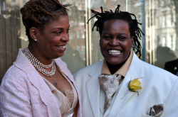 The year 2010 saw same-sex couples legally marry for the first time in D.C. Angelisa Young and Sinjhoyla Townsend were among the first to wed. (Washington Blade file photo by Michael Key)