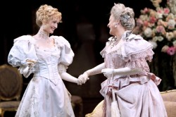 Rachel Pickup as Lady Chiltern (left) and Nancy Robinette as Lady Markby in Shakespeare Theatre Company's production of 'An Ideal Husband,' directed by Keith Baxter. (Photo by Scott Suchman; courtesy STC)