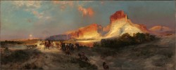 Thomas Moran's masterpiece 'Green River Cliffs, Wyoming.' (Image courtesy of the National Gallery of Art)