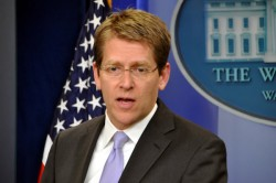 "White House Press Secretary Jay Carney called Jason Collins' decision to come out ""courageous"" (Blade file photo by Michael Key)"