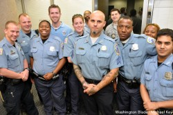 Members of the Gay & Lesbian Liaison Unit. (Blade photo by Michael Key)