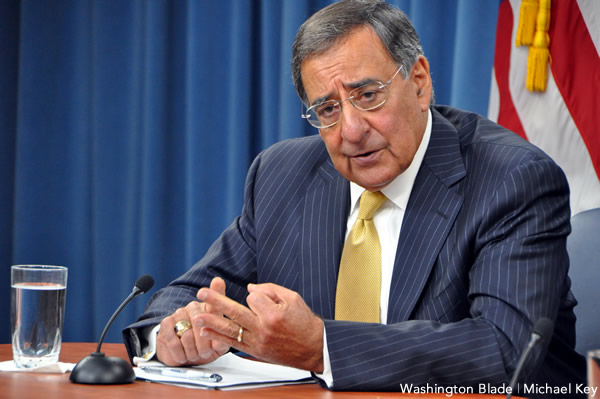 Defense Secretary Leon Panetta is expected to extend limited partner benefits to gay troops this week (Blade photo by Michael Key)