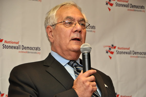 Rep. Barney Frank said he wished being LGBT would weigh more as a diversity factor (Blade file photo by Michael Key)