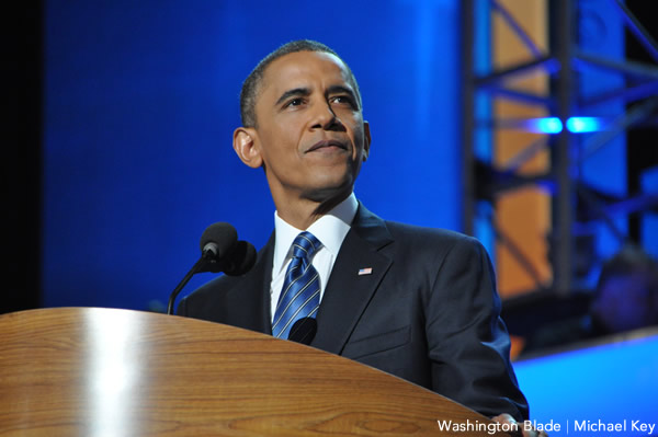 President Obama speaks for the Democratic National Convention