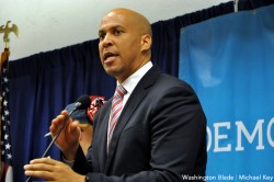 Cory Booker, gay news, Washington Blade