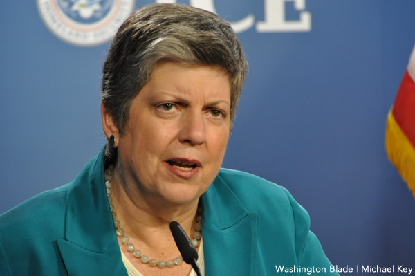 United States Secretary of Homeland Security Janet Napolitano, gay news, Washington Blade