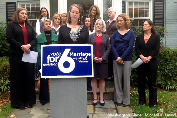 gay marriage, same sex marriage, question 6, Maryland, gay news, Washington Blade