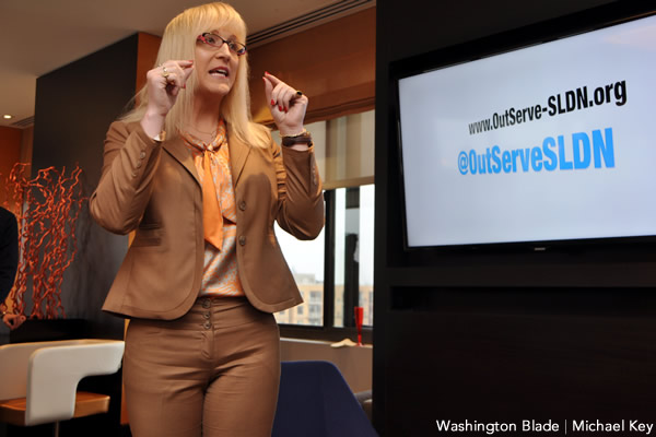 Allyson Robinson, Servicemembers Legal Defense Network, OutServe, gay news, Washington Blade