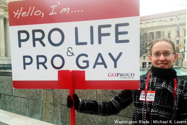 Holly Parker, GOProud, abortion, gay news, Washington Blade