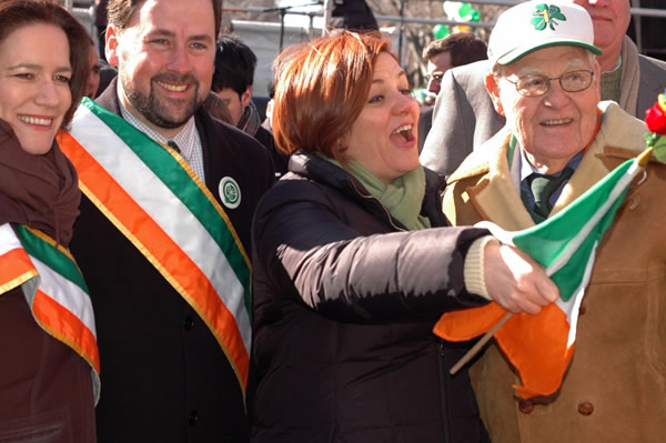 Christine Quinn, New York City, gay news, Washington Blade, St. Patrick's for All Parade, Queens