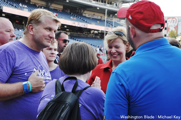 Tammy Baldwin, Night Out at the Washington Nationals LGBT event