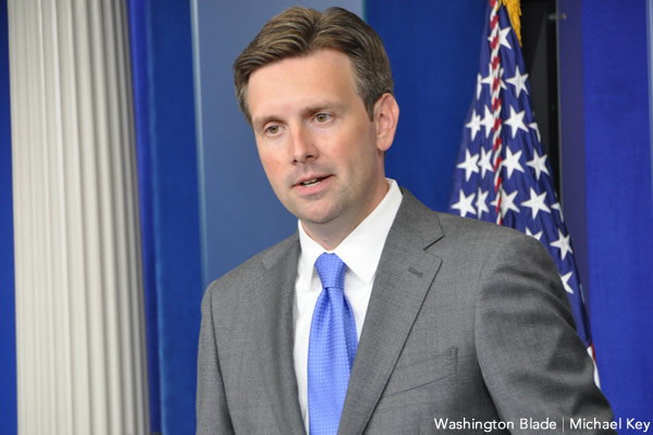 Josh Earnest, White House, Barack Obama Administration, press, gay news, Washington Blade