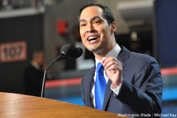 Julian Castro, gay news, Washington Blade