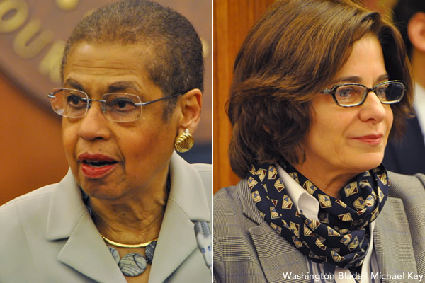 Eleanor Holmes Norton, Mary Cheh, United States House of Representatives, District of Columbia Council, Democratic Party, Gertrude Stein Democratic Club, gay news, Washington Blade