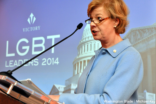 Tammy Baldwin, Gay and Lesbian Victory Fund, United States Senate, Democratic Party, Wisconsin, gay news, Washington Blade