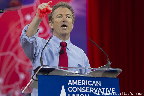 Rand Paul, American Conservative Union, CPAC, Conservative Political Action Conference, Republican Party, libertarian, Kentucky, United States Senate, U.S. Congress, gay news, Washington Blade
