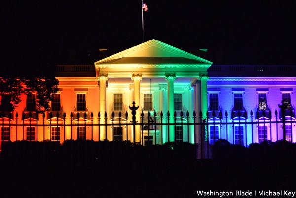 White House, rainbow, gay news, Washington Blade
