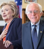 Hillary_Clinton_by_Damien_Salas_and_Bernie_Sanders_by_Michael_Key_split_460x470_(c)_Washington_Blade