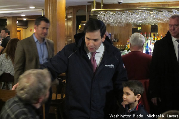 Marco Rubio, New Hampshire primary, gay news, Washington Blade