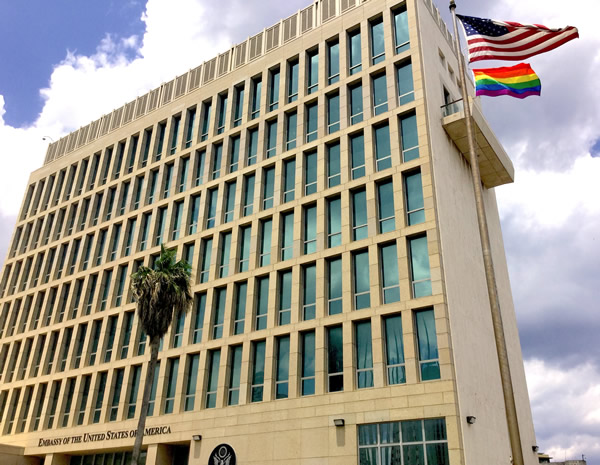 Cuba, Pride flag, gay news, U.S. Embassy, Washington Blade