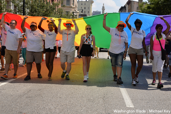 Baltimore Pride was deemed a success, despite scorching heat. (Washington Blade photo by Michael Key)