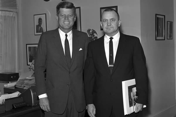 John F. Kennedy with life-long pal Lem Billings whose homosexuality was an open secret to those who knew him. (Photo courtesy the JFK Library)