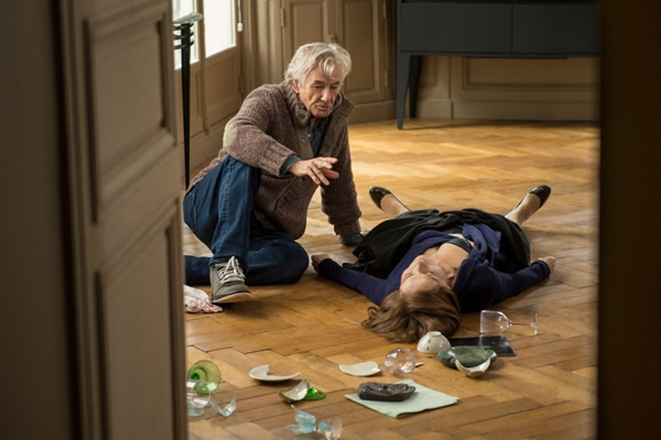 Director Paul Verhoeven and actress Isabelle Huppert on the set of 'Elle.' (Photo courtesy SBS Distribution)