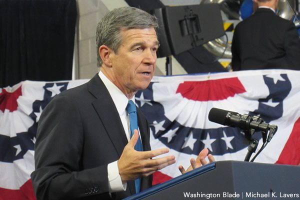 North Carolina Gov. Roy Cooper has unveiled an HB2 repeal compromise. (Washington Blade file photo by Michael K. Lavers)