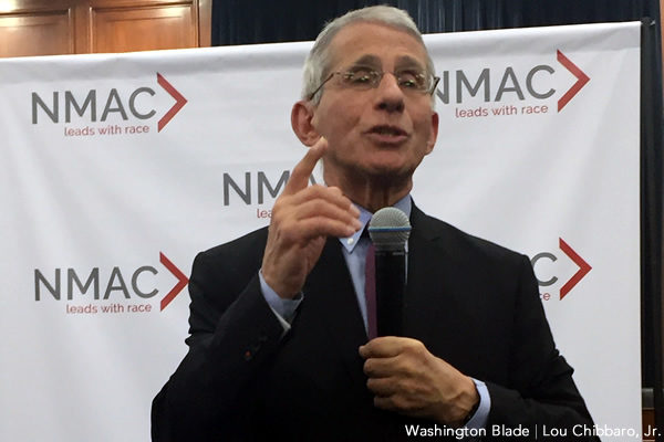Anthony Fauci, gay news, Washington Blade